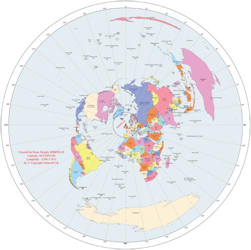 Custom Great Circle Map